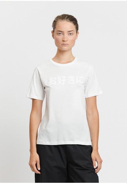 Белая хлопковая футболка