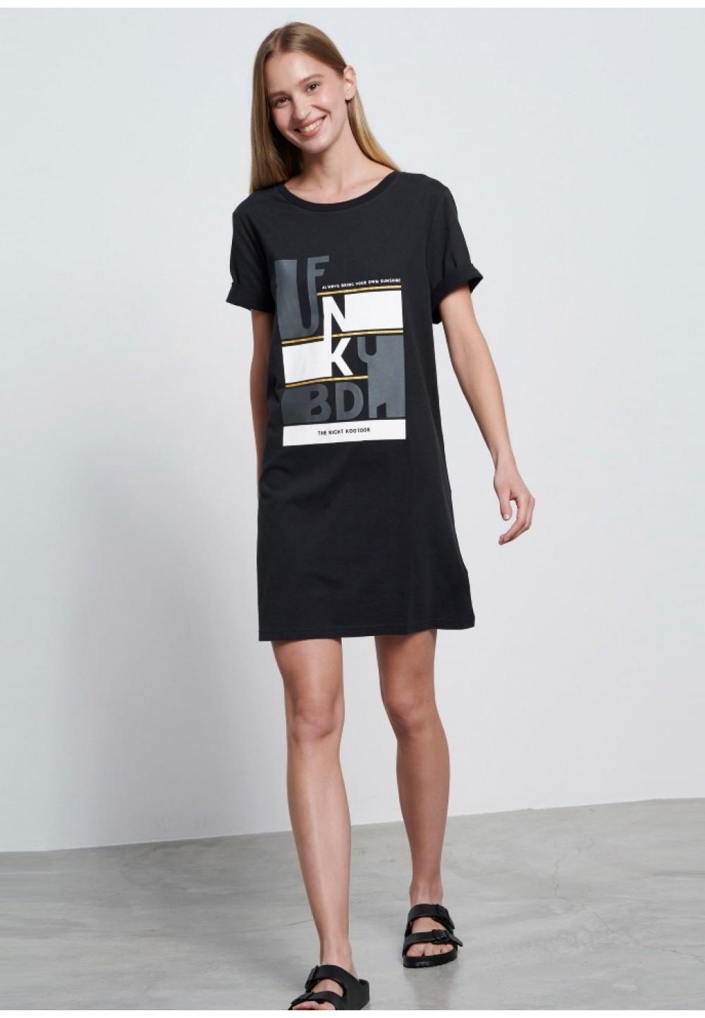 Сукня - футболка з принтом