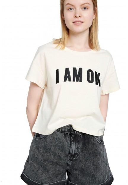 Біла футболка з принтом
