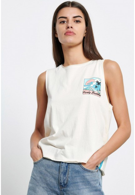 Біла легка футболка з принтом