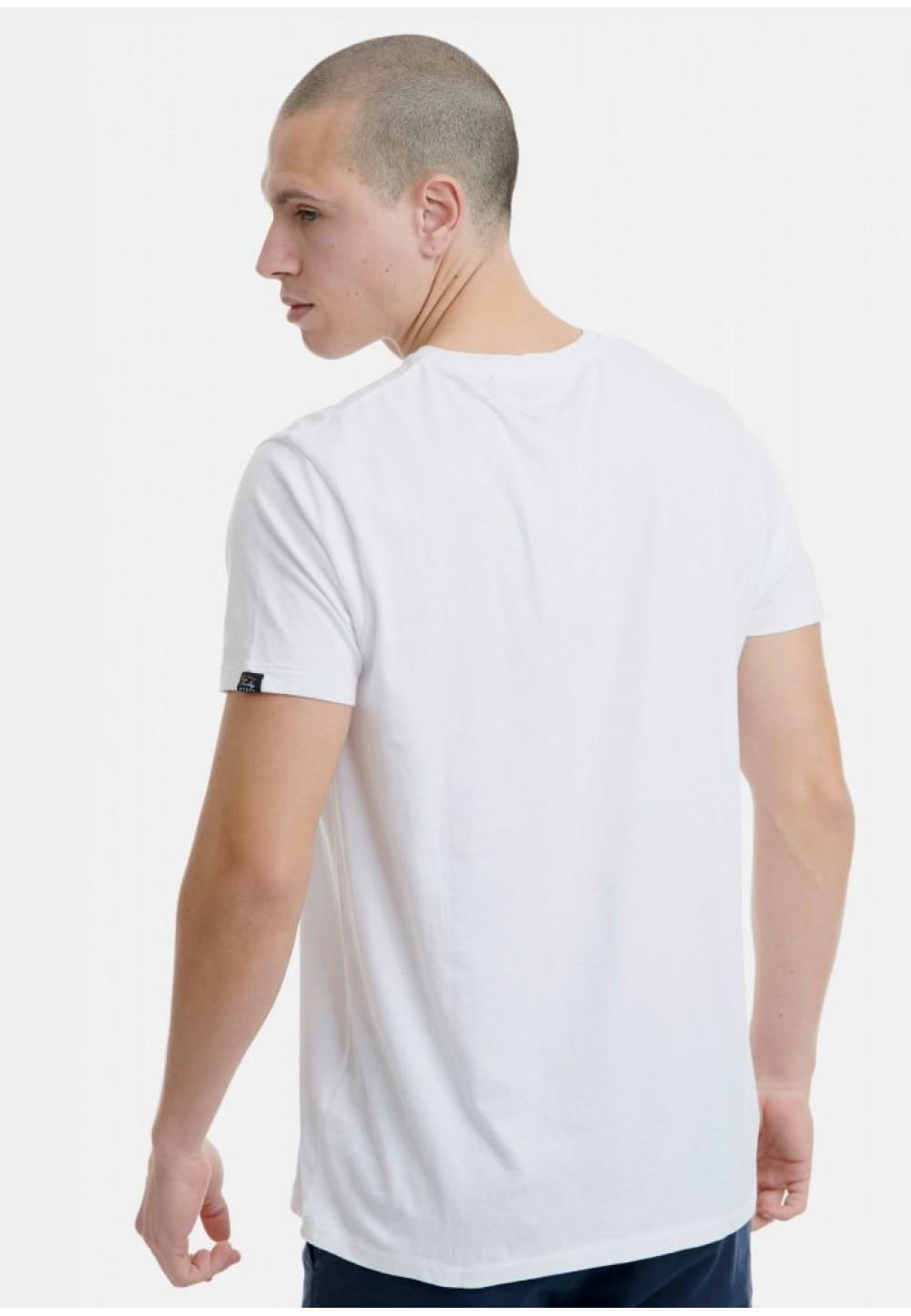 Футболка белая с винтажным принтом