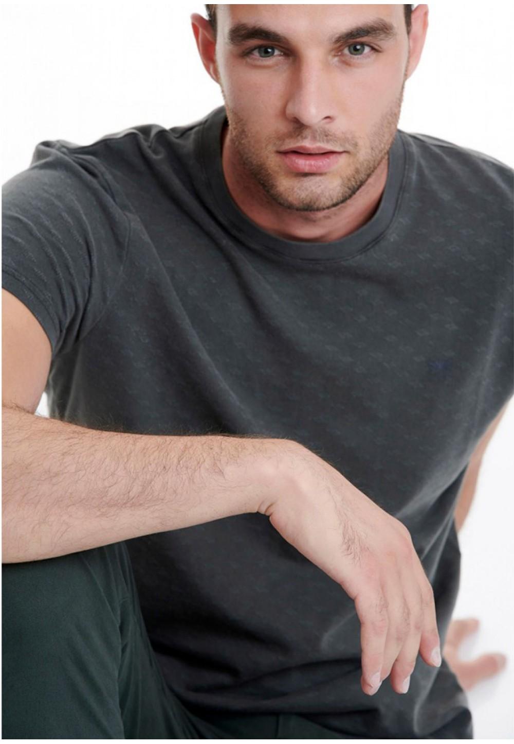 Мужская футболка серого цвета