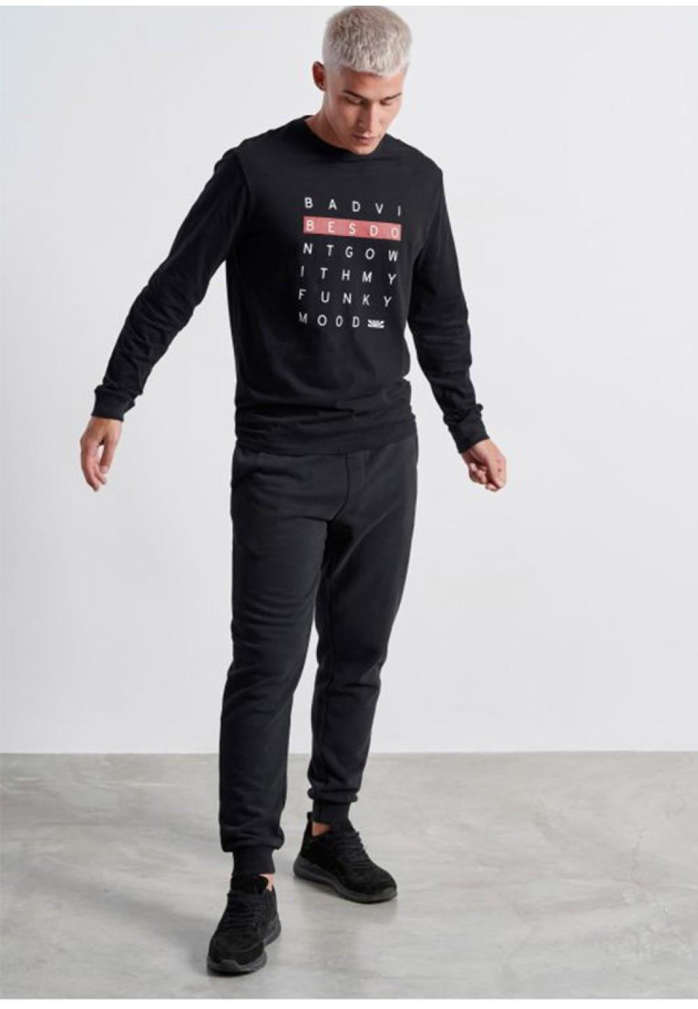 Стильная футболка с длинным рукавом