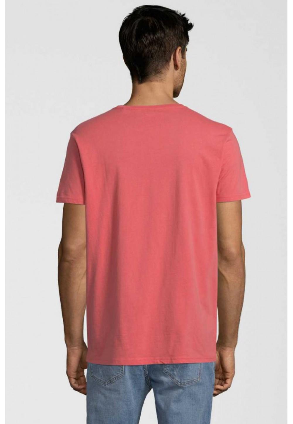 Хлопковая оранжевая футболка с надписью