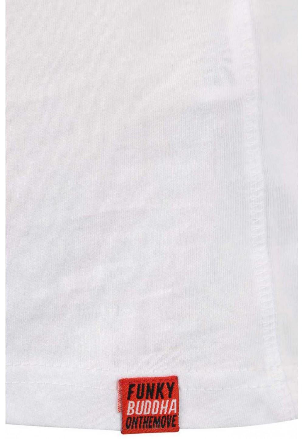 Хлопковая белая футболка с надписью