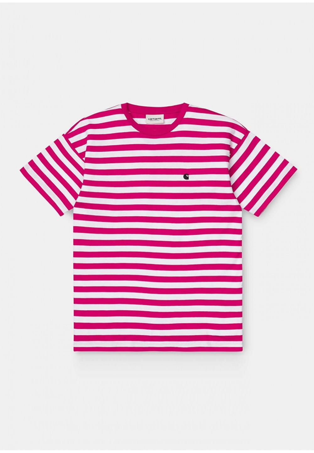 Стильная футболка в розовую полоску