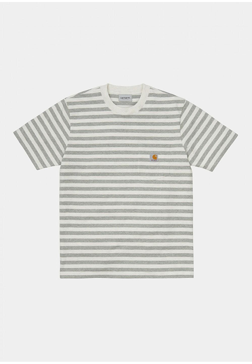 Полосатая футболка с логотипом на груди