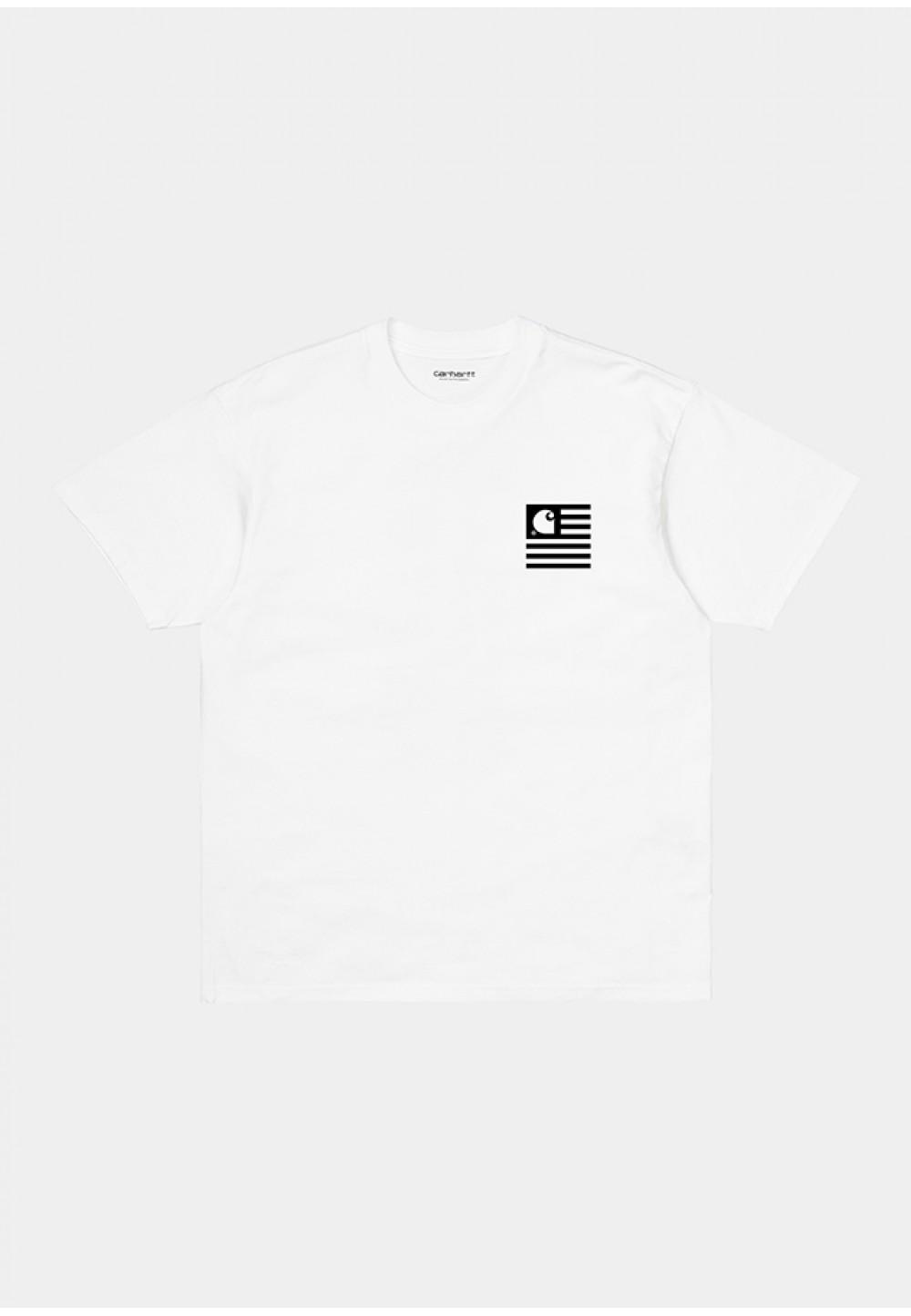Біла футболка з контрастним принтом
