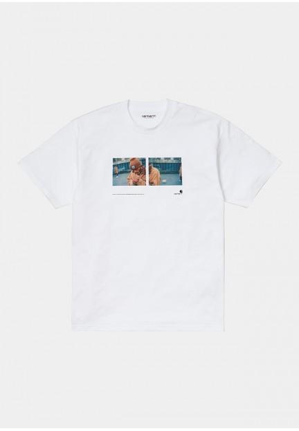 Хлопковая футболка с ярким принтом