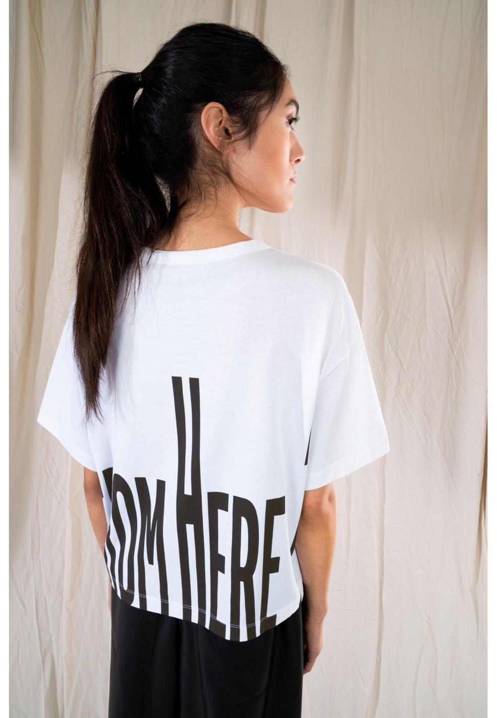 Женская футболка oversized LUNIE