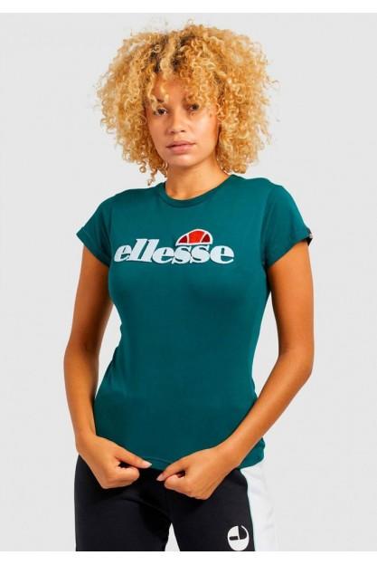 Женская футболка изумрудного цвета