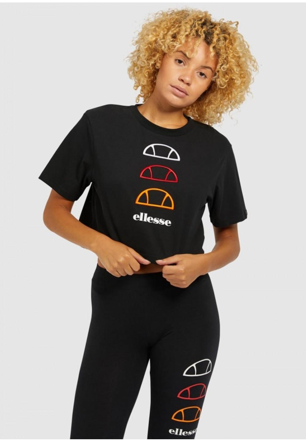 Черная футболка-топ