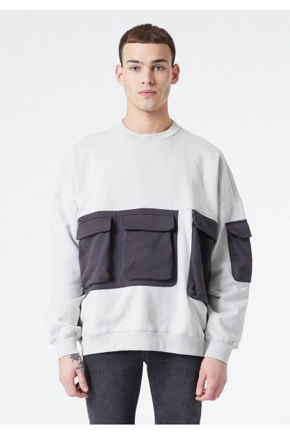 Мужской свитшот с накладными карманами