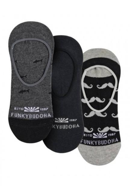 Шкарпетки-сліди з лого, набір з 3 штук