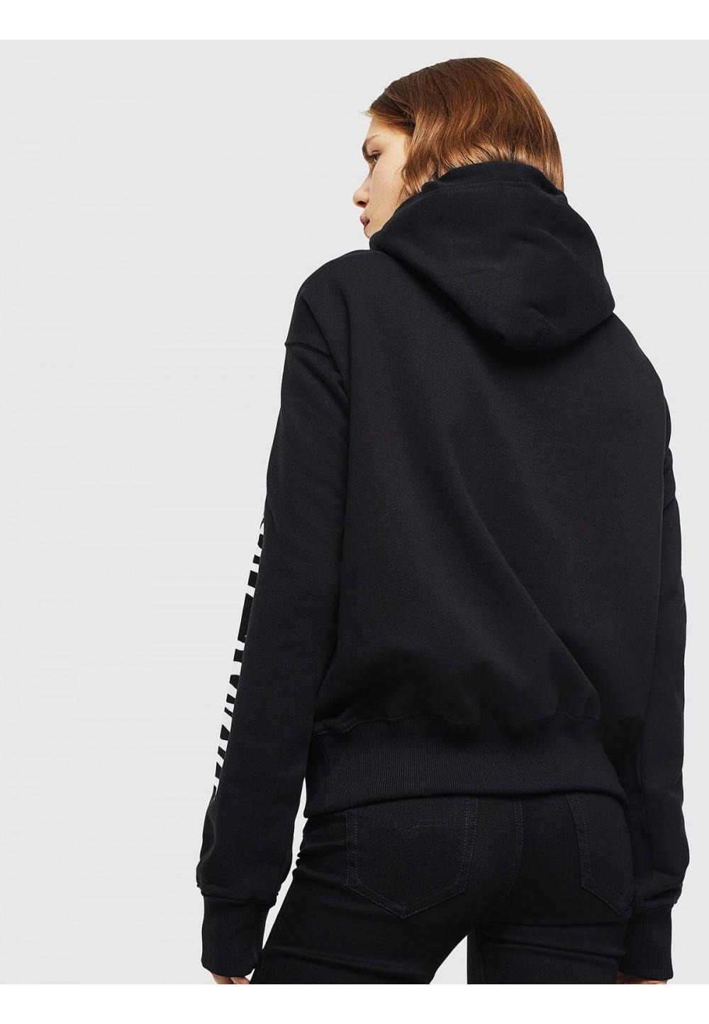 Черный стильный свитшот