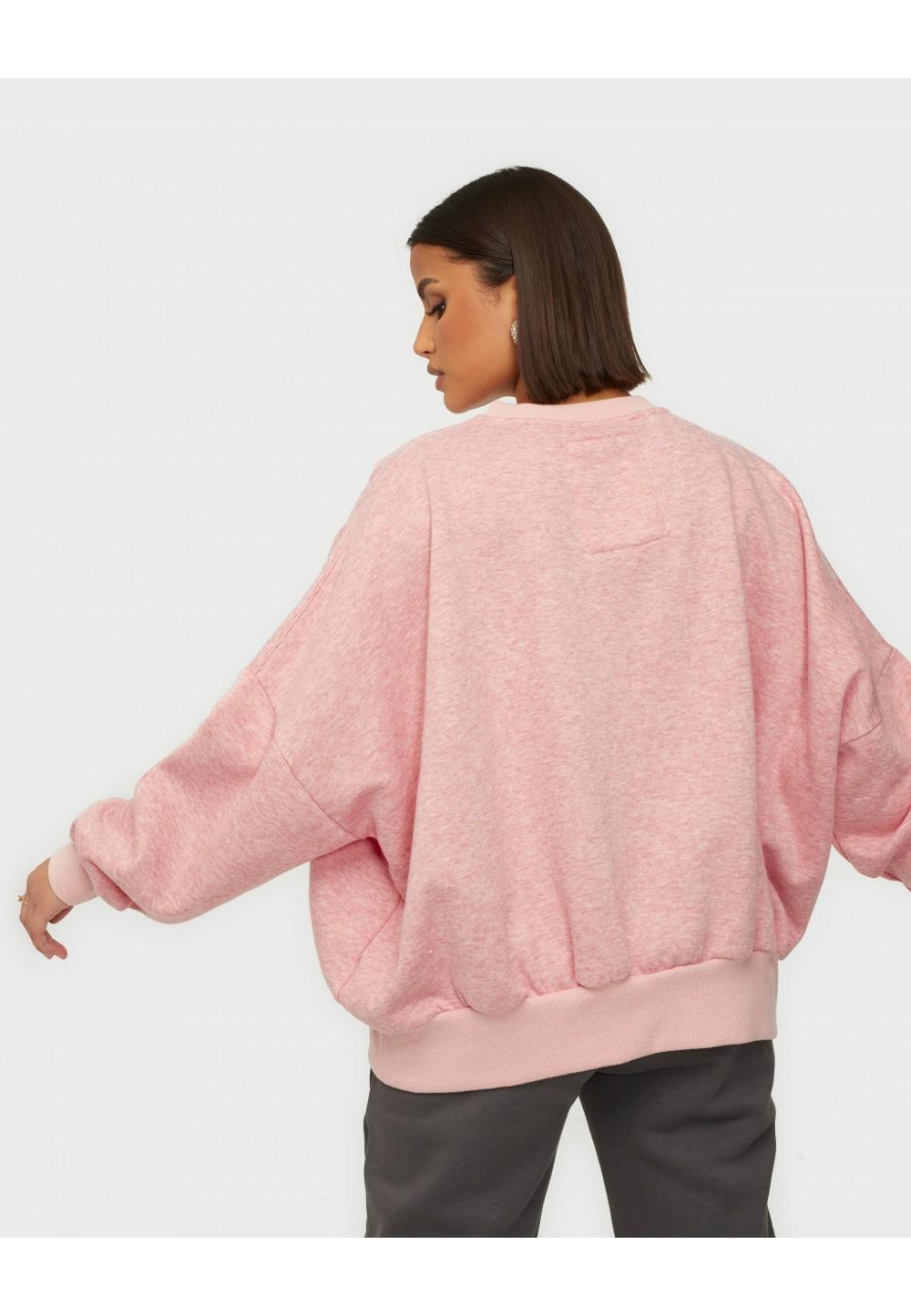 Розовый стильный свитшот