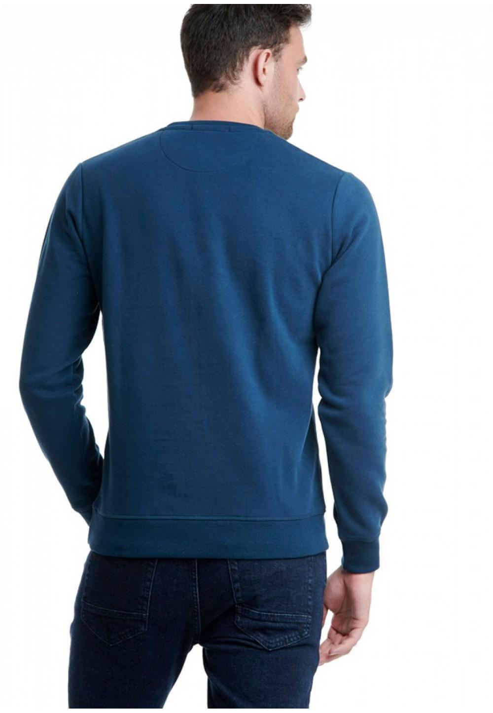 Синий мужской свитшот с логотипом