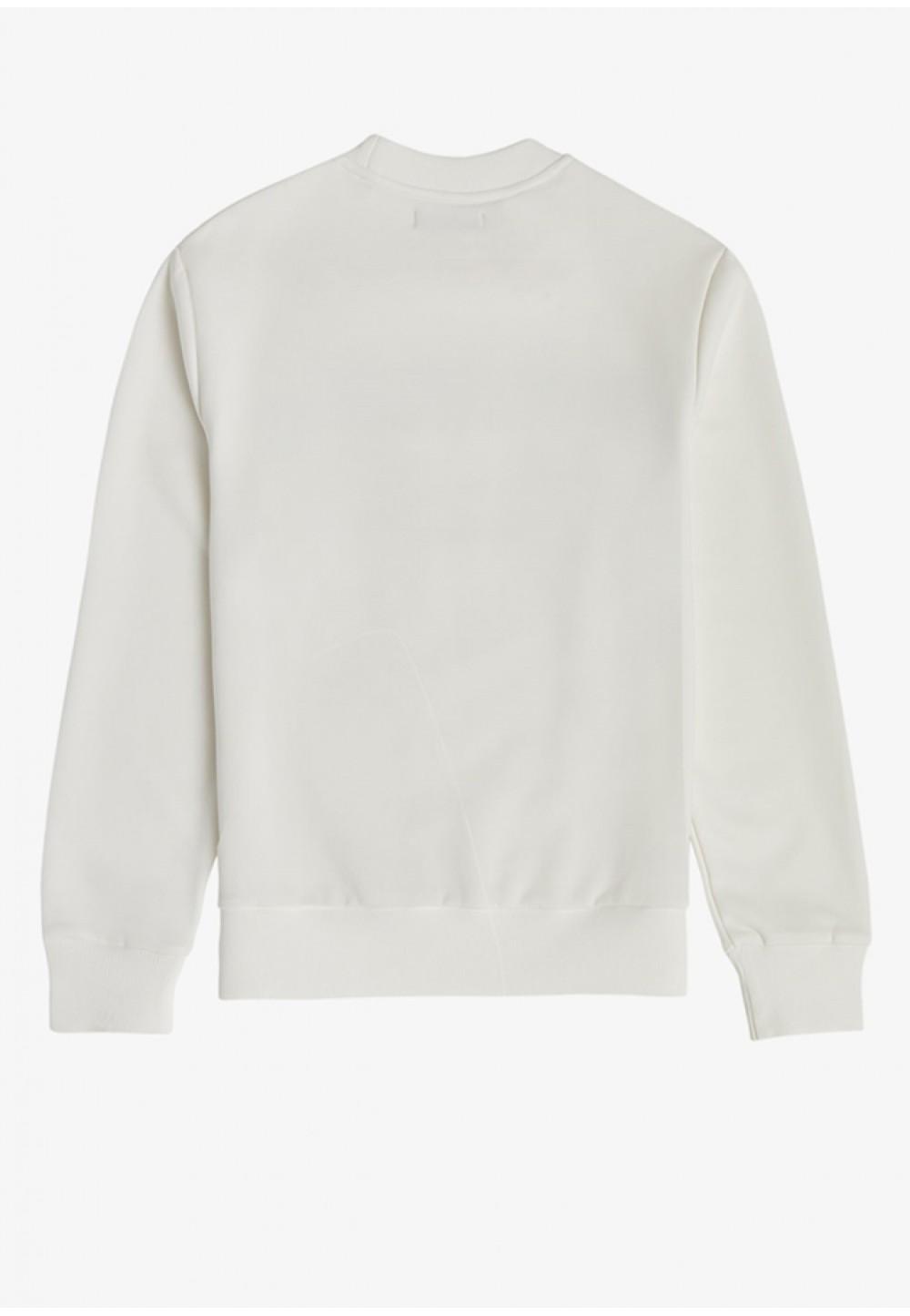 Білий світшот з принтом на грудях
