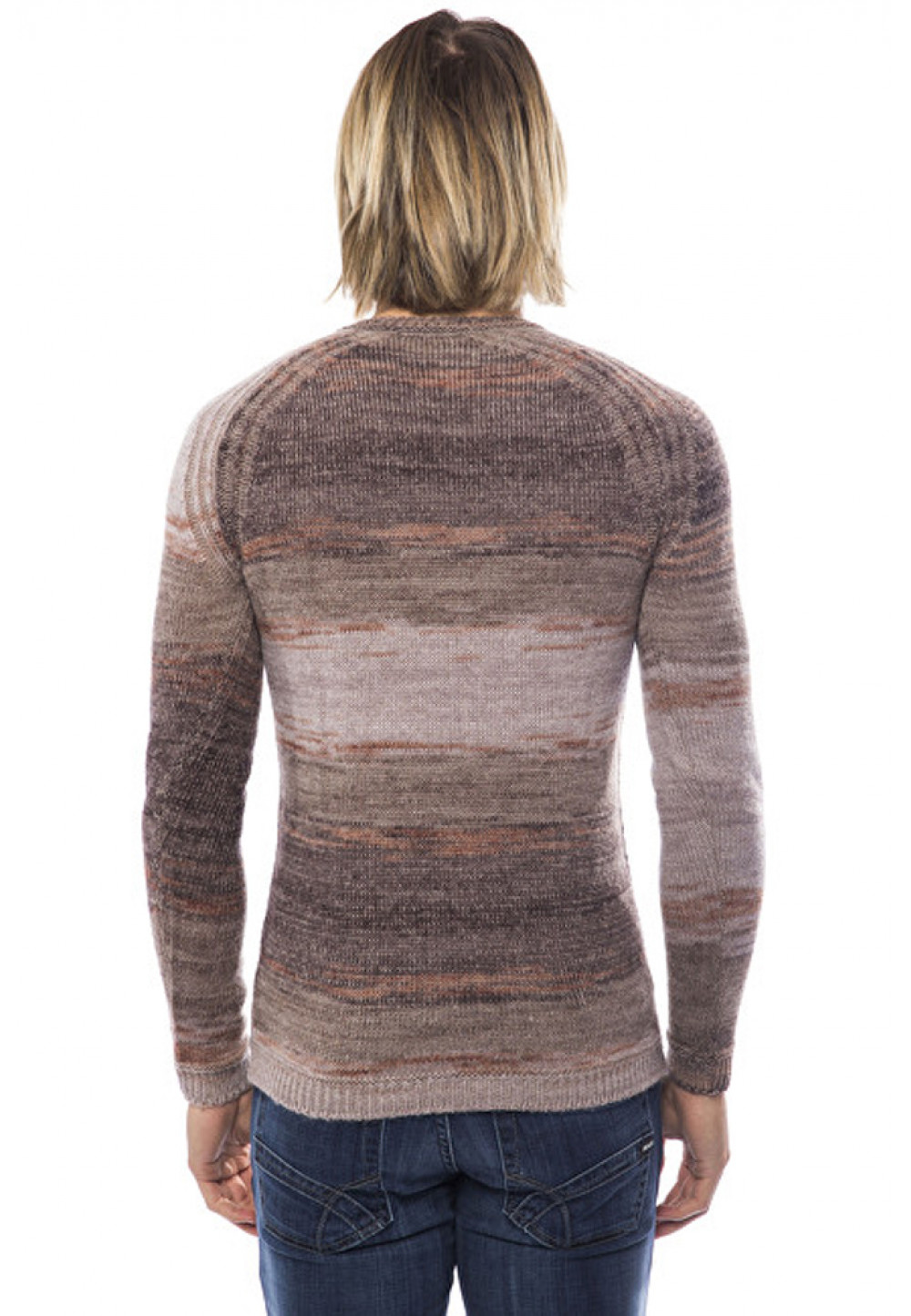 Вязаный свитер меланж