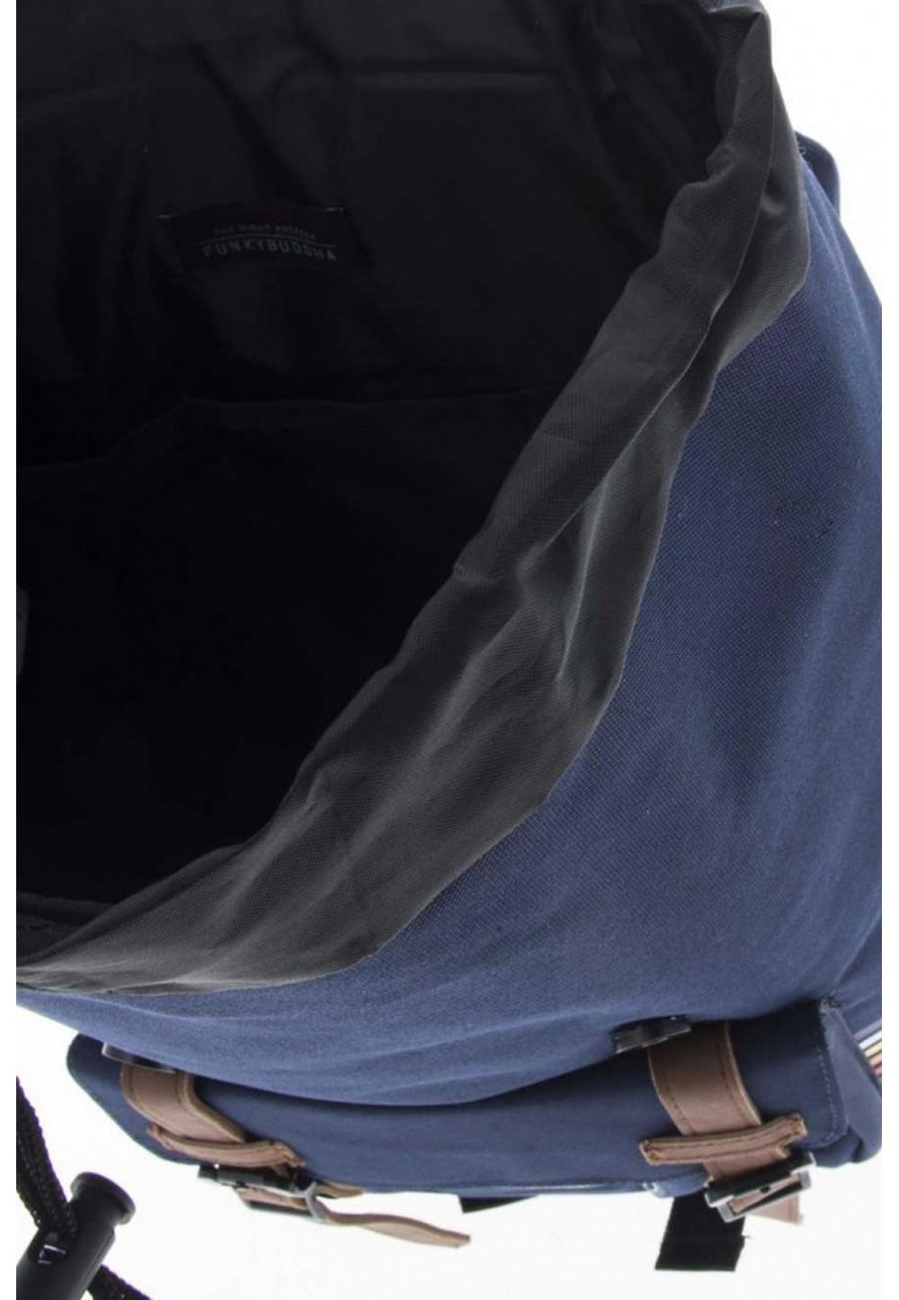 Рюкзак на ремінцях синій
