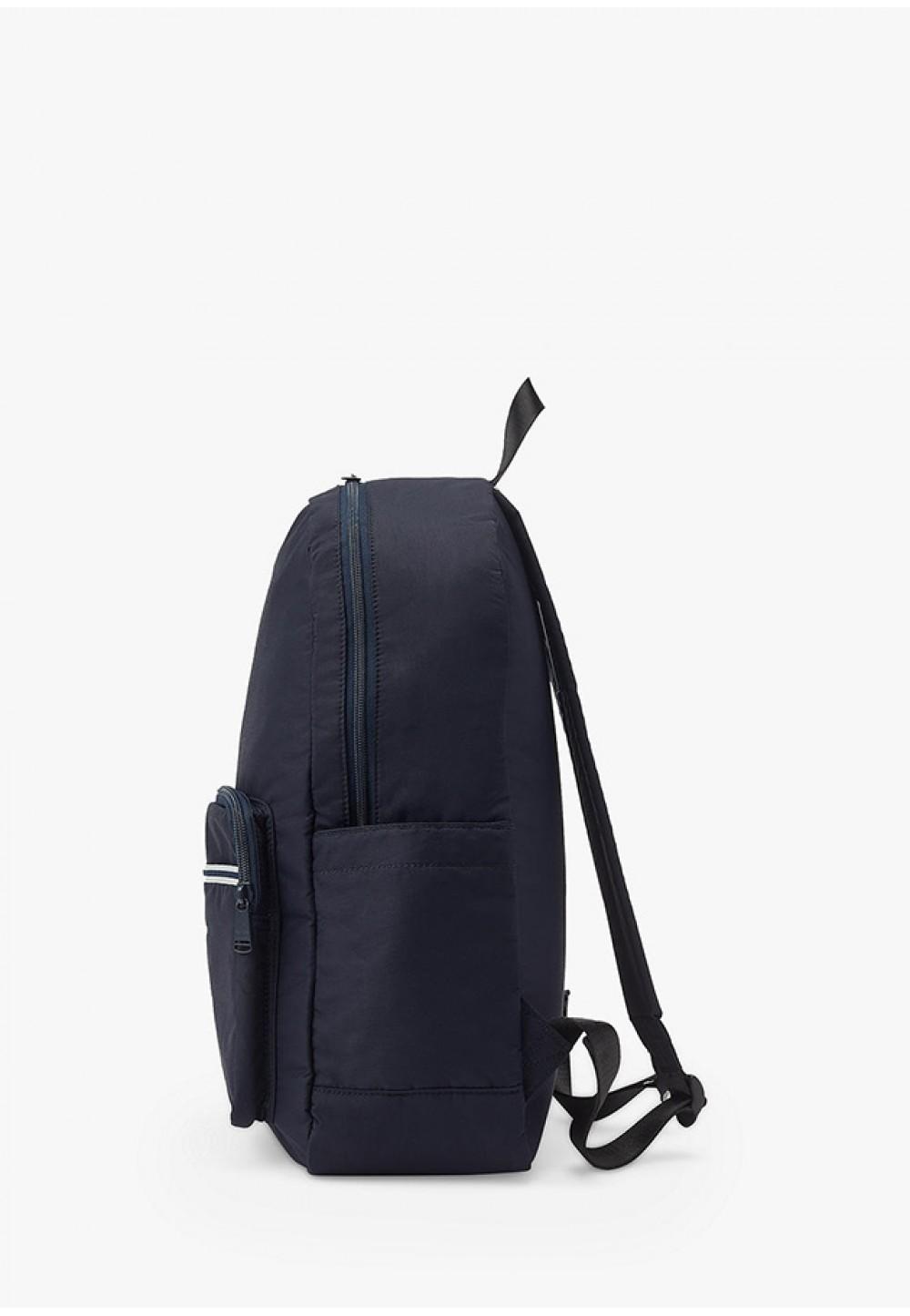 Стильний рюкзак синього кольору з логотипом