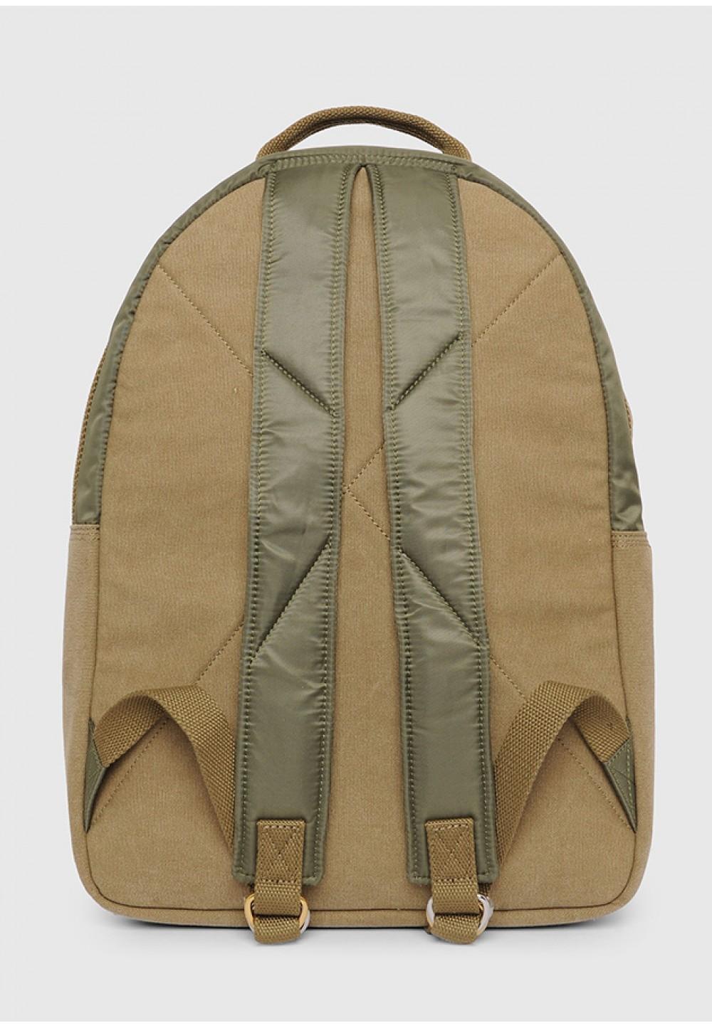 Рюкзак з стьобана нейлону і замші