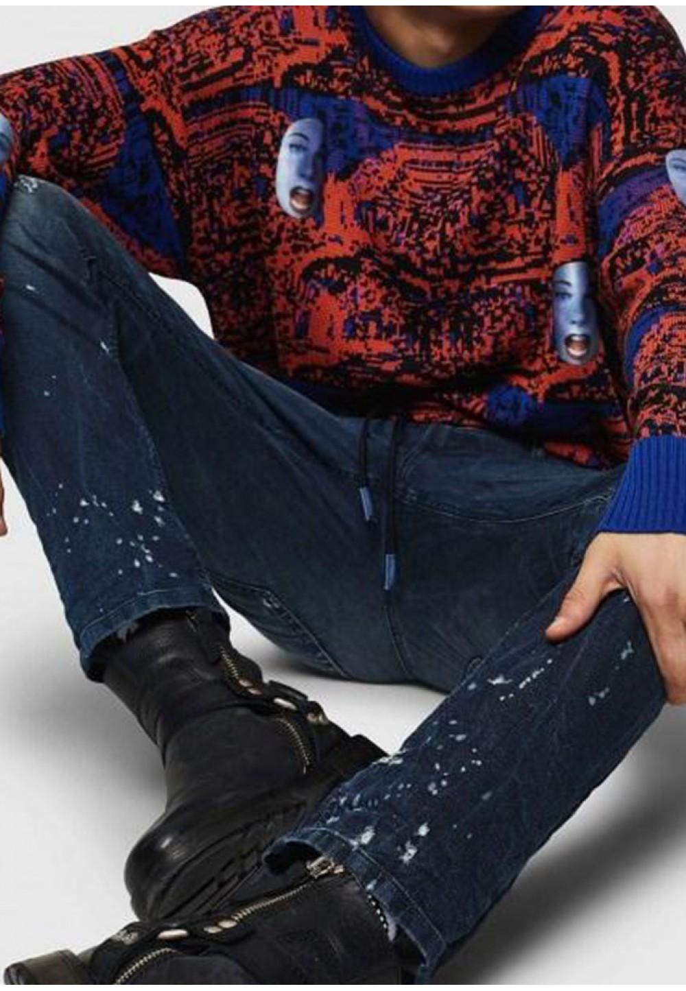 Мужские джинсы прямого кроя