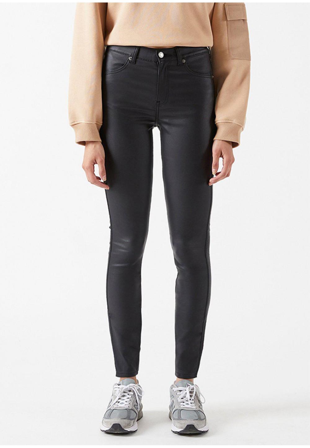 Зауженные брюки из искусственной кожи Lexy