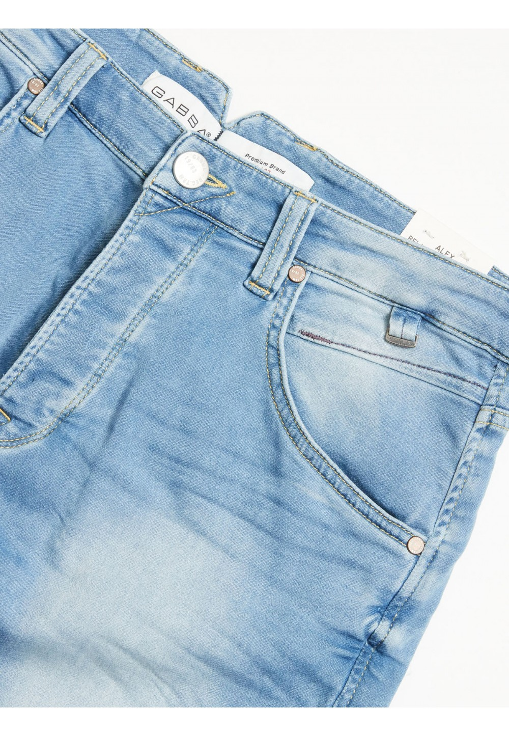 Голубые джинсы расслабленного кроя Alex K2060