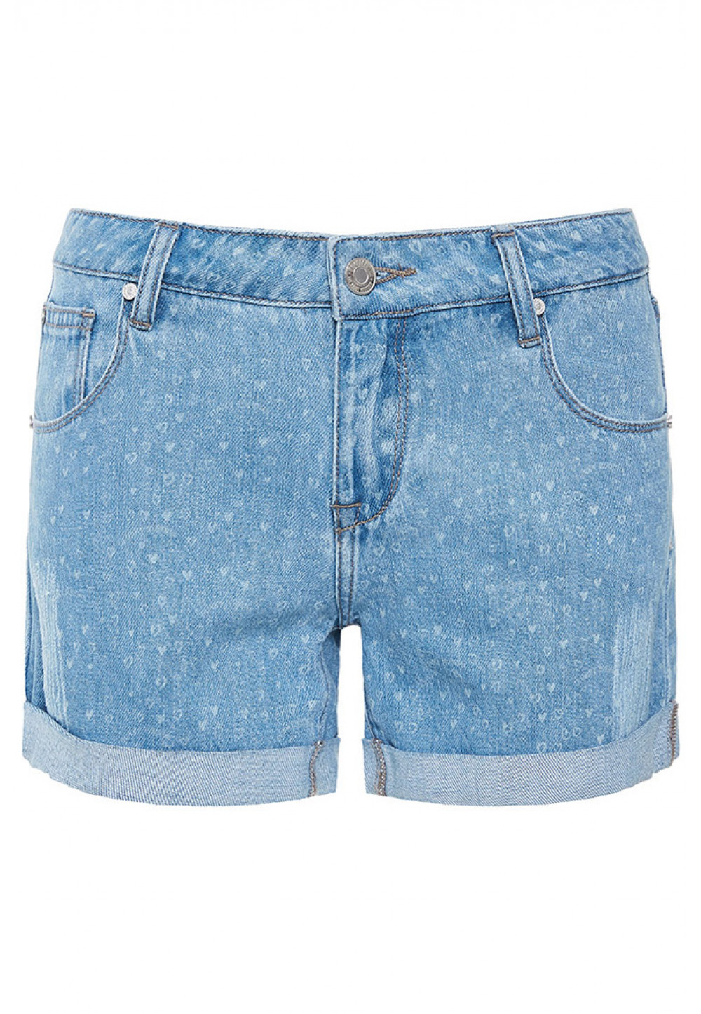 Джинсовые шорты с рисунком