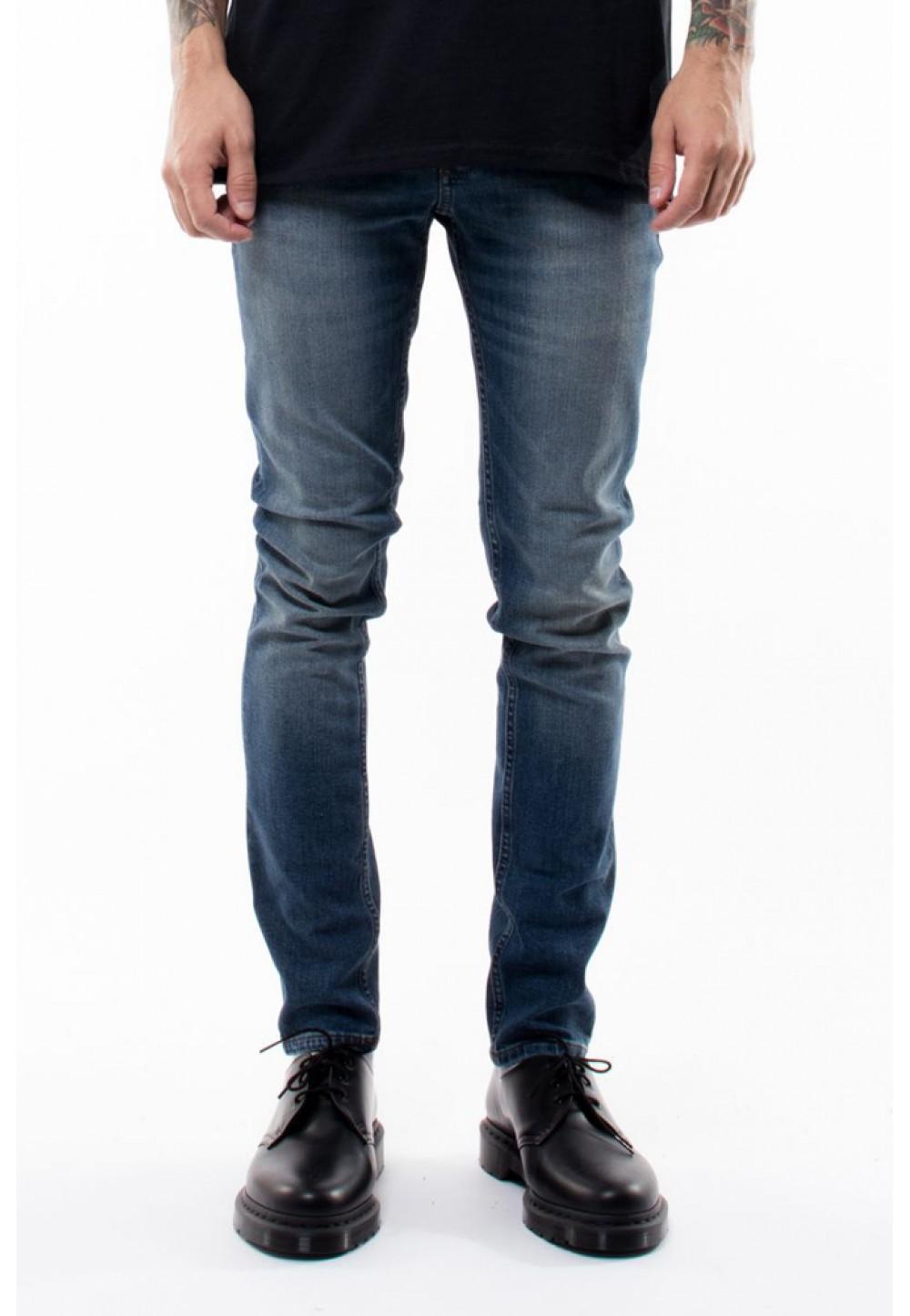 Зауженные джинсы индиго