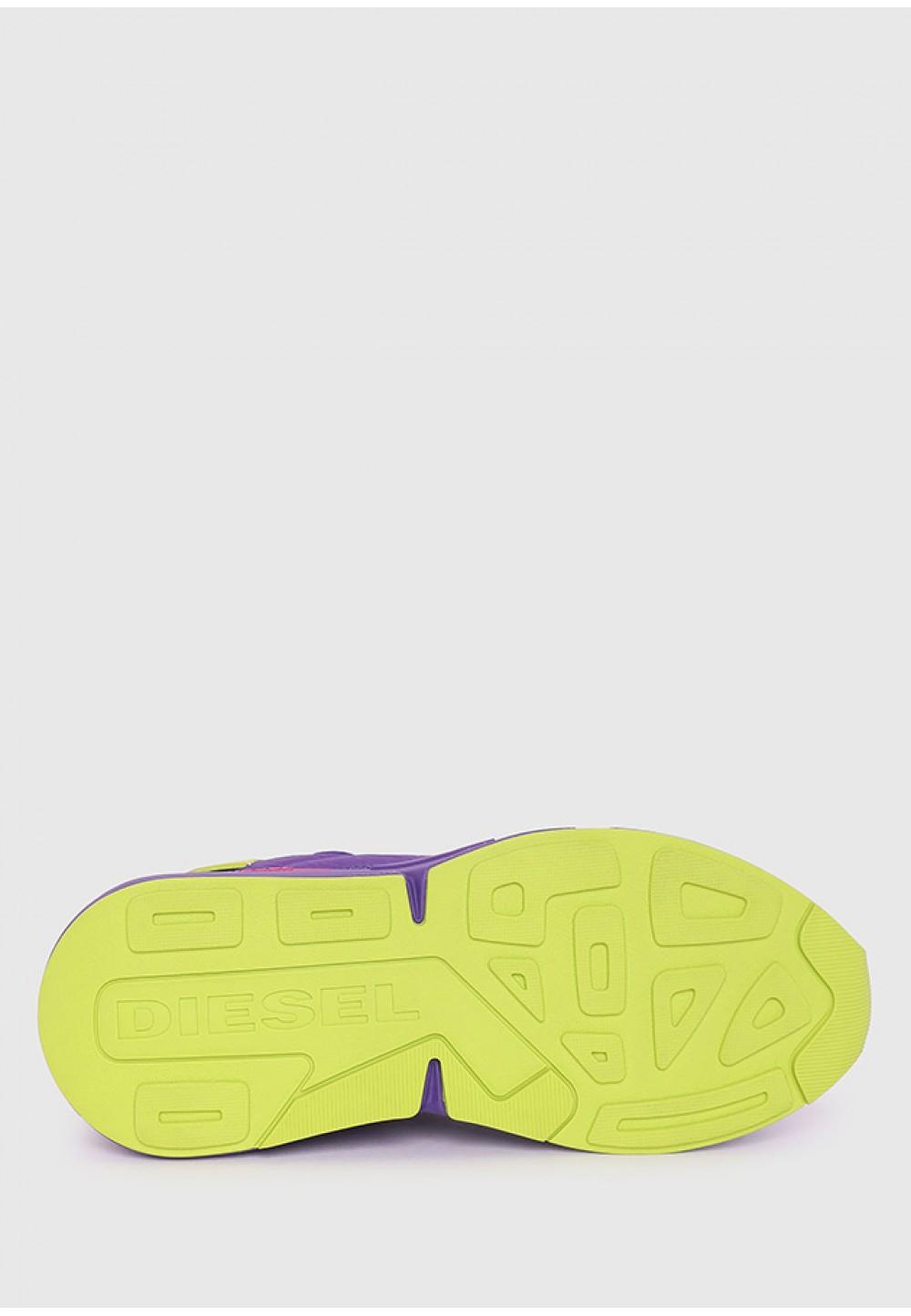 Кроссовки из нейлона с оборками и замши